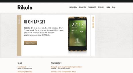 Visit Rikulo org - Web and Mobile Dart Framework   Rikulo