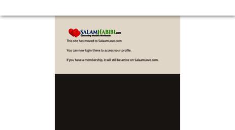 Visit Salamhabibi com - Muslim Matrimonial Site for Single