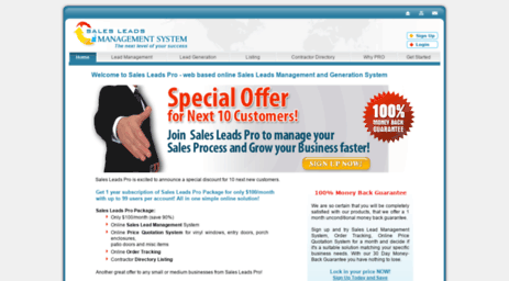 Visit Salesleadspro com - Sales Leads Pro - Sales Leads Management