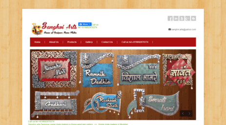Visit Sanghviarts Com Designer Name Plate Makers In Thane