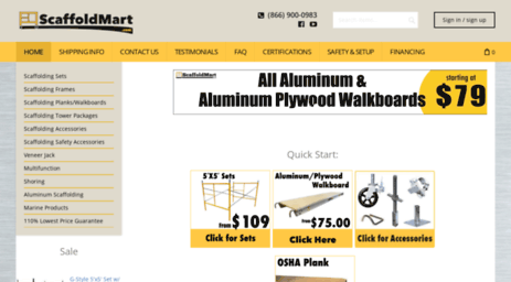 Visit Scaffoldmart com - Scaffolding & Scaffold Accessories