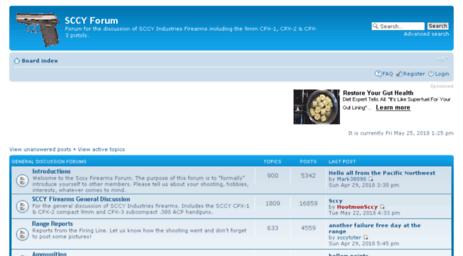 Visit Sccyforum com - SCCY Forum • Index page