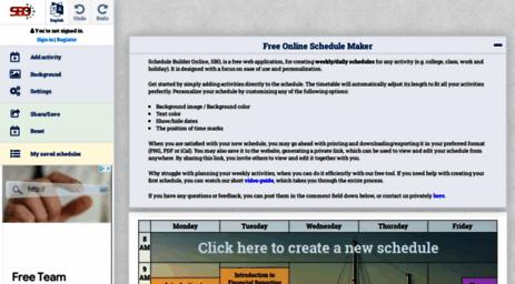 visit schedulebuilder org free online schedule maker plan weekly