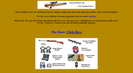 Visit Scopesandammo com - The premier Canadian store for