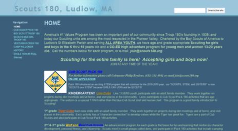 Visit Scouts180 org - Scouts 180, Ludlow, MA