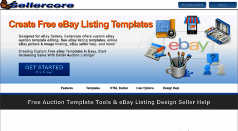 Visit Sellercore Com Free Ebay Templates Auction Listing Html Generator Sellercore