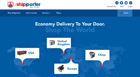 Visit Shipporter com - Shipping from USA, UK or China to