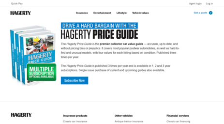 Hagerty Car Value >> Visit Shop Hagerty Com Classic Car Value Book Old Car