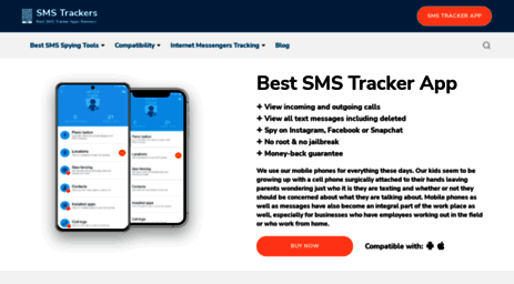 Visit Smstrackers com - Best SMS Tracker App: TOP3 SMS Spy Tracking
