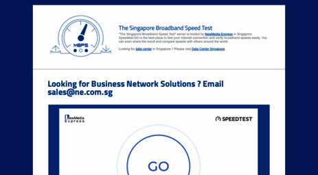 Visit Speedtest.sg - The Singapore Broadband Speed Test.