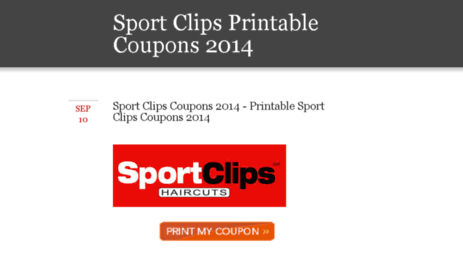 photograph about Sports Clips Coupons Printable titled Stop by - Video game
