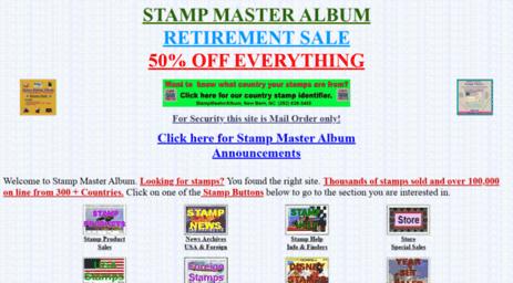 Visit Stampmasteralbum bizland com - Stamp Master Album Stamp Site