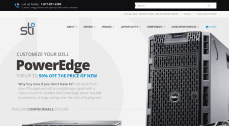 Visit Stikc com - Like-New, Certified Dell PowerEdge, PowerVault