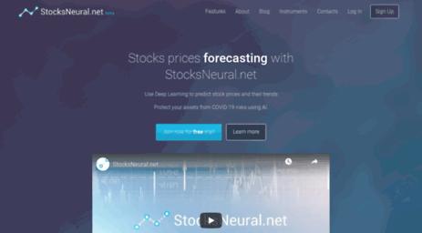 Visit Stocksneural net - StocksNeural net - Stocks prices