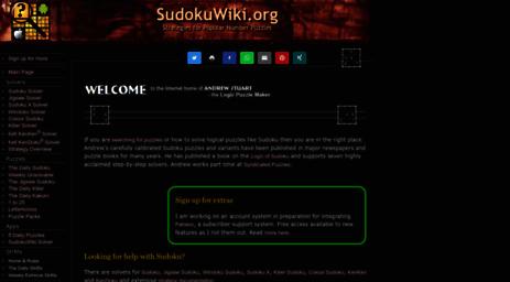 Visit Sudokuwiki org - SudokuWiki org - Main Page