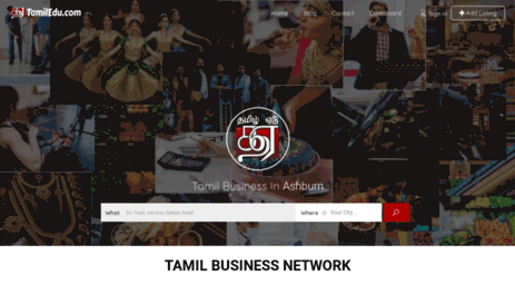Visit Tamiledu com - Tamil Business Directory - Find tamil business
