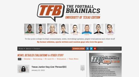 Visit Texasthefootballbrainiacscom The Football Brainiacs Ut