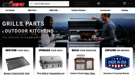 Visit Thebbqdepot com - Grill Parts, BBQ Grills, Outdoor Kitchens