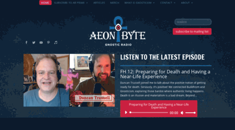 Visit Thegodabovegod com - Home - Aeon Byte Gnostic Radio