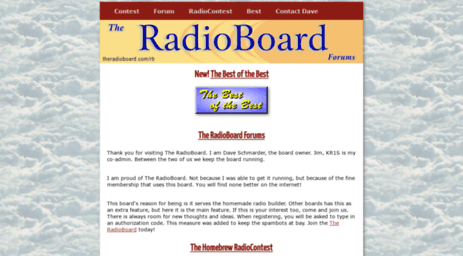 Visit Theradioboard com - The RadioBoard - Radio Contest for