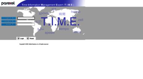 Visit Time parexel com - Deltek Time & Expense - Login