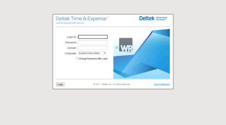 Visit Time wrsystems com - Deltek Time & Expense - Login