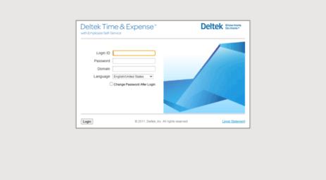 Visit Timesheet traxintl com - Deltek Time & Expense - Login