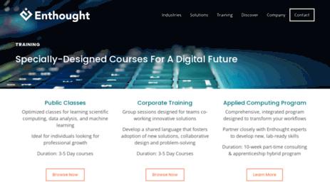 Visit Training enthought com - Online Python Training
