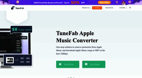 Visit Tunefab com - TuneFab - Remove DRM from Music & Movies