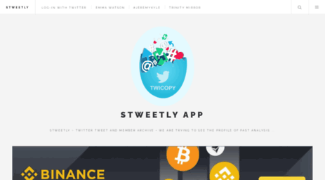 Visit Twicopy org - STwity • Online Twitter Web Viewer