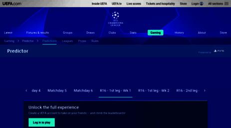 Visit Uclpredictor uefa com - UEFA Champions League