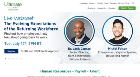 Visit Ultipro net - HR Software Solutions & Payroll for
