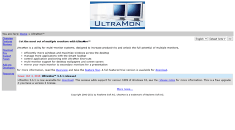 Visit Ultramon com - Realtime Soft UltraMon