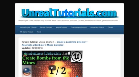 Visit Unrealtutorials com - Unreal Tutorials - Unreal Engine