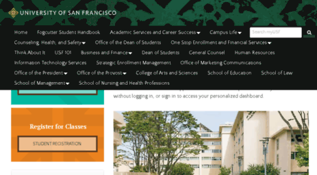 Visit Usfconnect usfca edu - Home Page | myUSF