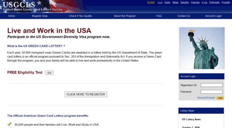 Visit Usgcls com - Green Card Lottery - Online Registration