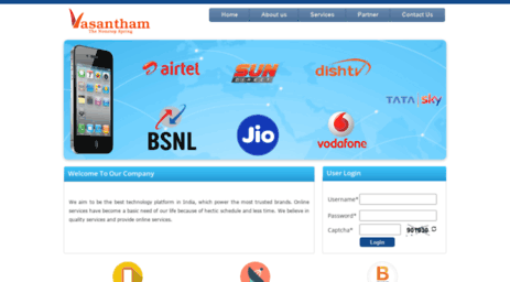 Visit Vasanthamrecharge com - Vasantham Recharge - Online
