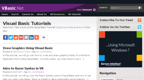 Visit Vbasic net - VBasic NET | Visual Basic Tutorials, Tips