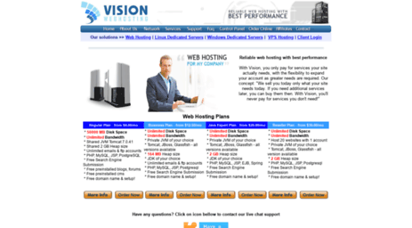 Visit Visionwebhosting net - Java Web Hosting with Tomcat, Glassfish