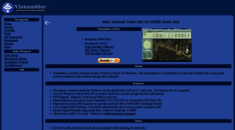 Visit Vistumbler net - Vistumbler - Open Source WiFi scanner