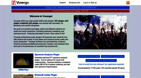 Visit Voxengo com - VST Plugins, AU Plugins, AAX Audio