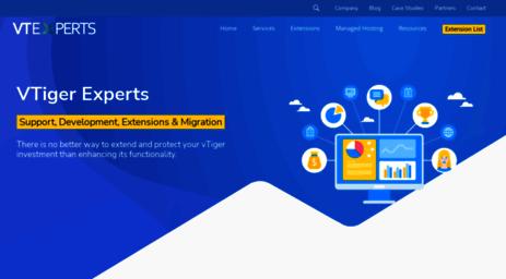 Visit Vtexperts com - VTiger CRM Experts - Support, Development