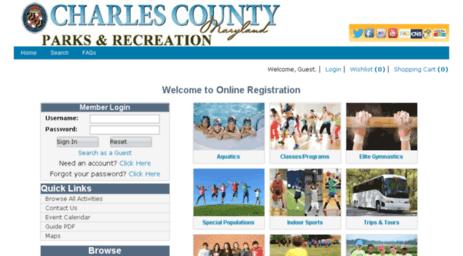 Visit Webtrac charlescounty org - Welcome