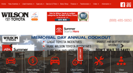 Wilson Toyota Ames >> Visit Wilsonofamestoyota Com Toyota Dealer Ames Ia New