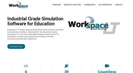 Visit Workspacelt com - Workspace Robot Simulation Software
