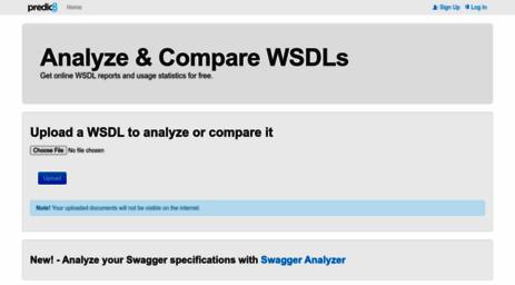 Visit Wsdl-analyzer com - Online WSDL Viewer and Validator
