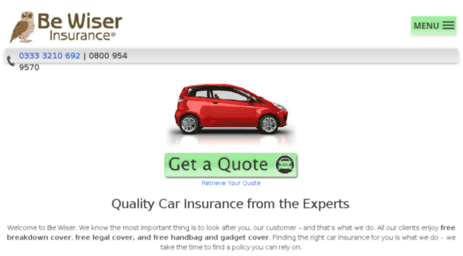Be Wiser Car Insurance >> Visit Ww3 Bewiser Co Uk Be Wiser Insurance Quality Car