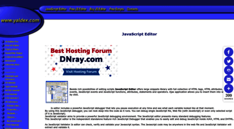 Visit Yaldex com - Yaldex JavaScript Editor