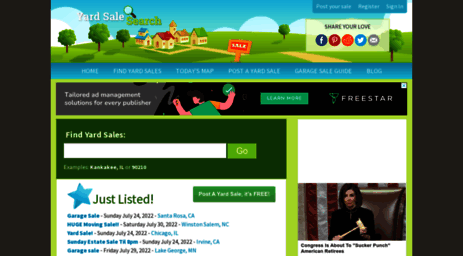 visit yardsalesearch com yard sale search find or advertise