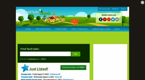 Visit Yardsalesearch com - Yard Sale Search - Find or